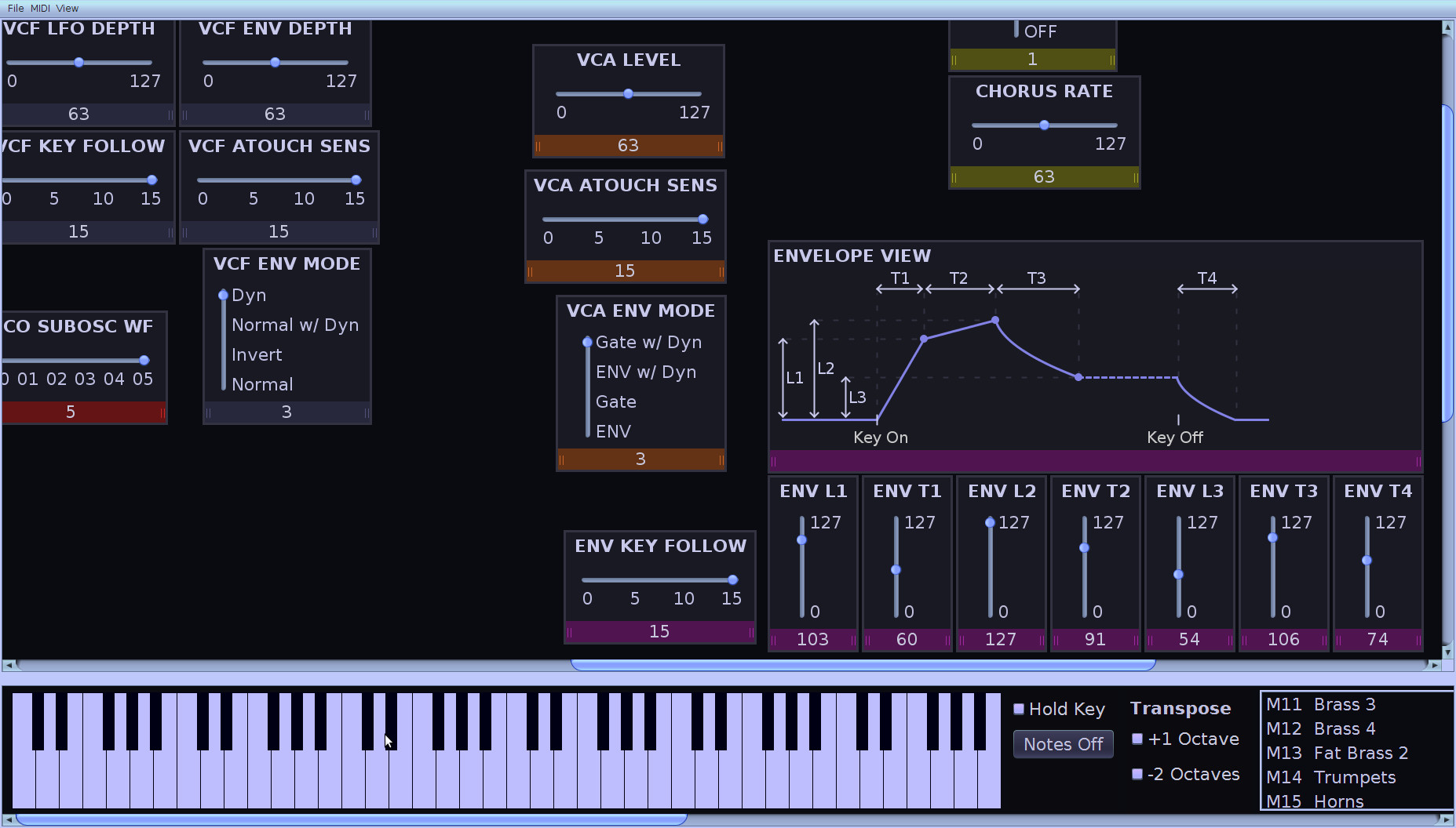 ILoveMyJuno2 - MIDI SysEx editor for the Roland ΑJuno range of synthesizers (Java)