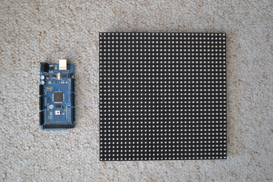 Arduino and RGB LED matrix